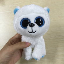 "IN HAND NEW SERIES STUFFED ANIMAL  EYES Polar bear white 6""  Cute Plush doll"