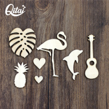 QITAI 51 Pcs/Lot Decoration Crafts Wood Scrapbooking Figurines & Miniatures Wooden Natural Smart Craft DIY Products Gift WF284(China)