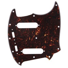 Yibuy 20 Hole Dark Brown Shells Color 4ply Guitar Pickguard for Mustang Guitar