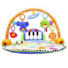 100% Genuine Fisher Price Baby Rattles Toys Multifunctional Infant Play Baby Piano Educational Toys Super Soft Bed Crib Hangings(China)