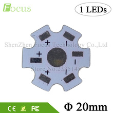1W 3W 5W LED Aluminum Heat sink Base Plate 20mm Heat Sink Star PCB Board DIY for 1 3 5 W Watt High Power LED Light beads