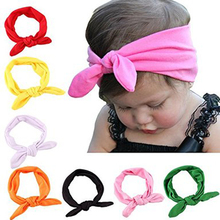 8 Colors Bow Headband Turban Knot Rabbit Hairband Girls Headwear for Kids Toddlers Birthday Party or Celebrations (Set of 8)