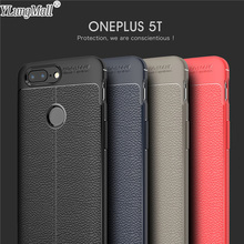 YLungMall Luxury Leather Fundas Cases for Oneplus 5T Case Soft Rubber Protector TPU Cover Coque for One plus 5T Phone Case(China)