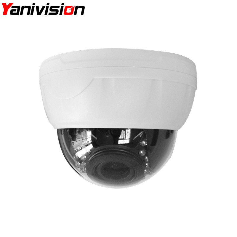 2.8-12mm Varifocal Lens Plastic IR Indoor IP Dome Motion Detection Night Vision 5MP 4MP 960P 1080P IP Camera H.265<br>
