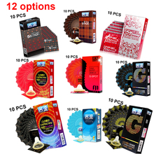 Buy PERSONAGE 10 Pcs/Lot 12 options High Quality Natural Latex Condoms Penis Sleeve Safer Contraception Men Lubrication Condoms