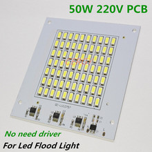 5pcs/lot DIY 50W PCB LED Flood Light 220V SMD5730 Lamp Plate Integrated IC Needn't Driver aluminum Light Source Panel floodlight(China)