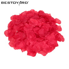 1000pcs Lifelike Artificial Silk Red Rose Petals Decorations for Wedding Party Festival Decor Simulation Wedding Flower Petals(China)