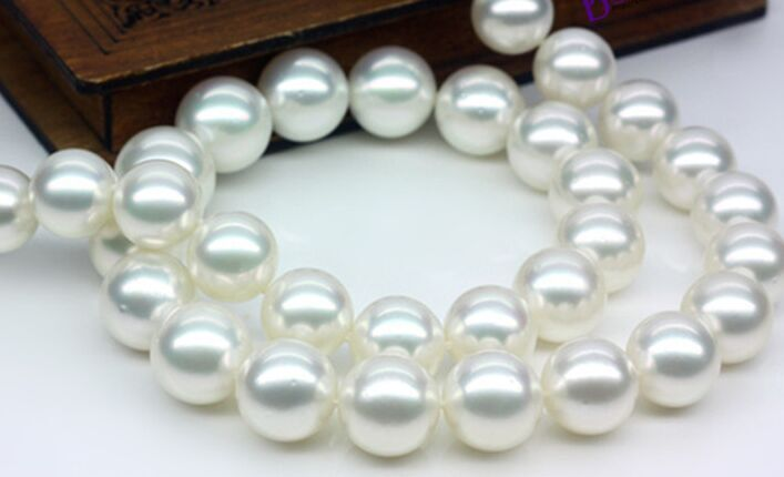 "HUGE 18""10-12MM NATURAL freshwater GENUINE WHITE ROUND PEARL NECKLACE 925silver"