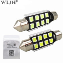 WLJH 4x CANbus 31mm 36mm 39mm 41mm C5W C10W 2835 Led Car Light Bulb For Audi Volkswagen Mercedes-Benz BMW E36 E39 E46 E90 E60(China)