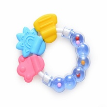 Newborn Rattles Bell Silicone Teether Toys Soft Mobile Music Bed toys Cartoon Baby Educational Toys for 0-12 Months Kids Gifts(China)