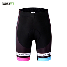 WOSAWE Women's Cycling Shorts Gel Padded Bike Shorts Pro Team Raod bike bicycle  Underwear Breathable Bermuda Ciclismo