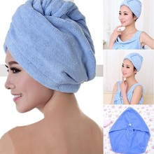 1pc Drying Hair Towel Hair Magic Quick Dry Microfiber Bath Hair Towel Drying Turban Wrap Cap Spa Bathing Hat 4 Colors Supply