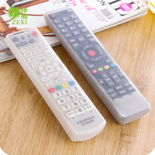 200PCS Dust Storage Boxes Transparent Silicone TV Remote Control Cover Protective Holder Bags Home Supplies(China)