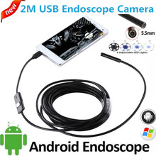 5.5mm OTG USB Endoscope Camera Android iPhone PC Snake Tube Pipe USB Endoskop Waterproof security surveillance borescope camera