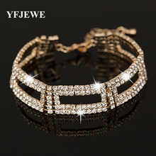 Buy YFJEWE Top AAA Roman Chain Bracelet & Bangle Women Crystal Gold Silver Plating Wedding Accessories Jewelry #B048 for $2.38 in AliExpress store