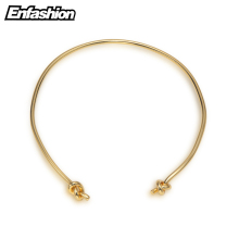 EnFashion Couple Knot Choker Necklace Gold Color Necklaces Pendants Chokers Necklace Women Statement Jewelry Kolye Collares(China)