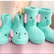 New Winter Warm Soft House Slippers Women Fur Fluffy Slippers Mint Green Fuzzy Funny Slippers With Feathers Christmas Gift