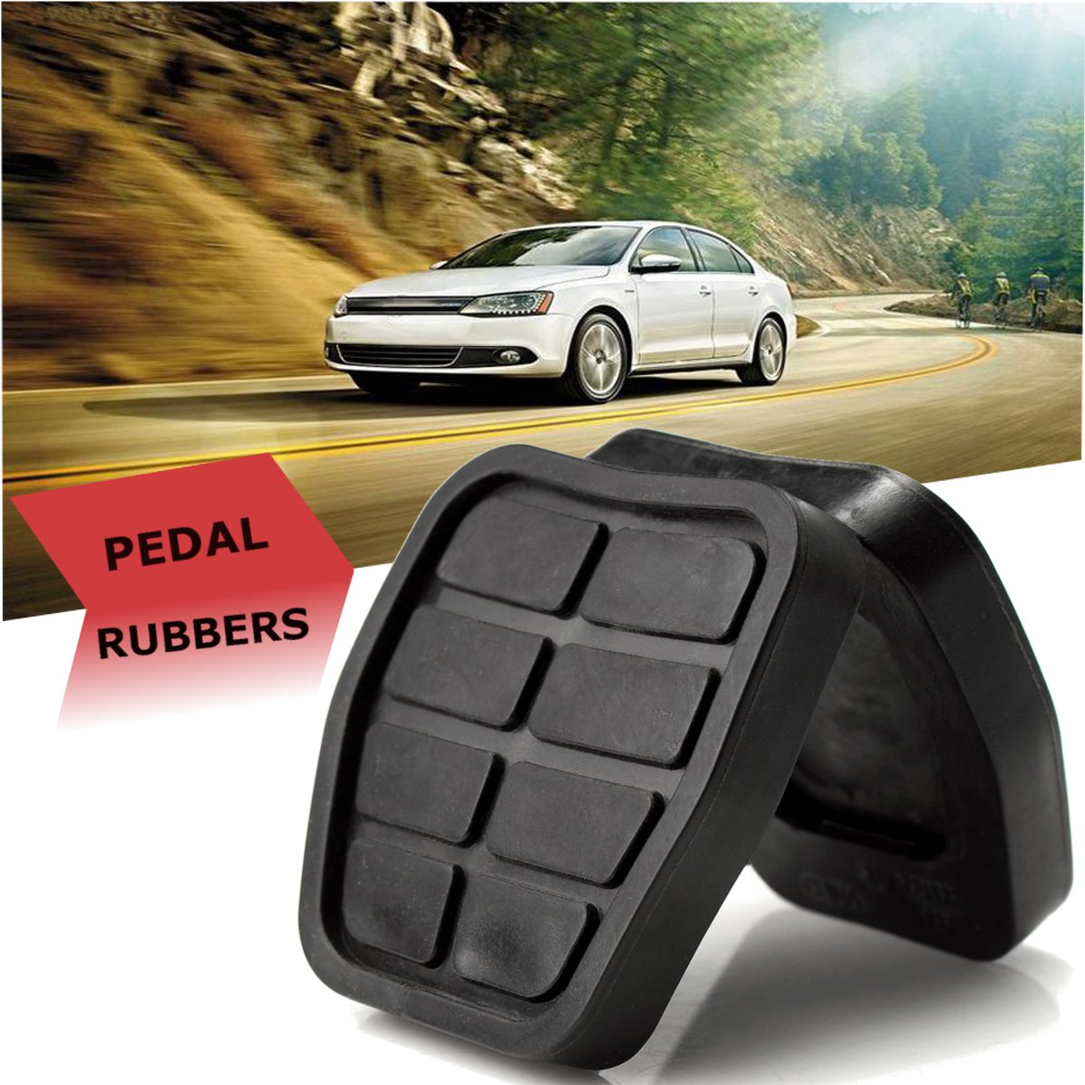Repuesto de almohadillas de freno de goma para el pedal del acelerador del coche para VW Transporter T4 1990-2003