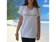 Lol ur not harry styles t shirt 1D One Direction band tumblr Funny Casual tees Women Sexy Tops Fashion Clothing Plus Size