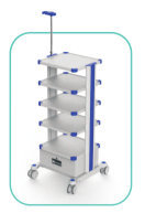 ET001-1 Hospital Medical Endoscope Trolley with More Shelves 1.35m (pls contact us for final freight)(China)
