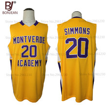 2017 New Cheap Ben Simmons 20 Montverde Academy Eagles Throwback Basketball Jersey Yellow Stitched Sewn Retro Mens Shirts(China)