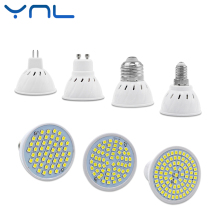 YNL Lampada led lamp 48leds 60leds 80leds AC 220V SMD 2835 LED Spotlight bulb GU10 MR16 E27 E14 for home Energy Saving Bombillas