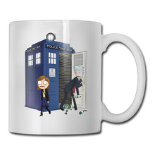 Rick And Morty Doctor Who coffee mug pretty women tazas ceramic tumbler caneca tea Cups(China)