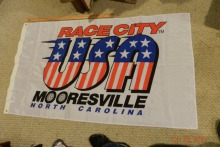 NASCAR Flag Banner RACE CITY USA, MOORESVILLE, NORTH CAROLINA Large Indoor Outdoor Flag 3' x 5' Banner metal holes Custom Flag
