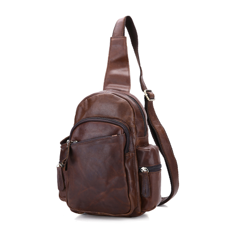 Designer 2017 Genuine Leather Cowhide Chest pack Mens Crossbody Chest Bags Fashion Small Shoulder Bag Crossbody for Man Bag<br>