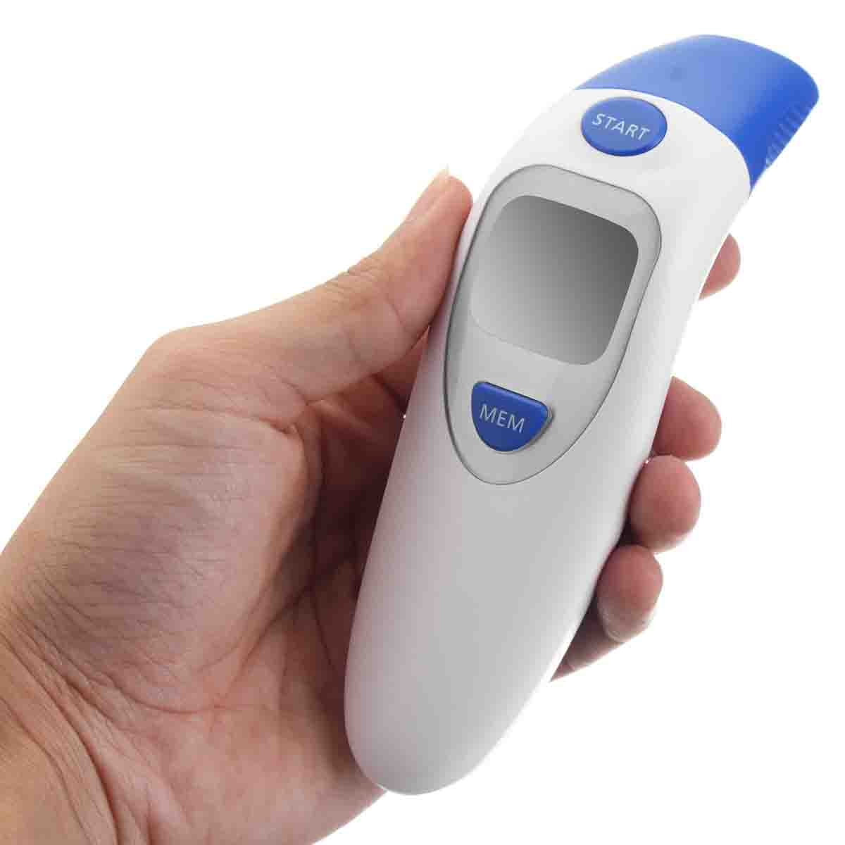 Baby Adult Safe Digital Body Temperature Portable Forehead and Ear Infrared IR Thermometer(China)