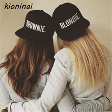 Kioninai 2017 BLONDIE BROWNIE Hot Sale (A Pair) Snapback Hats Women Men Girlfriend Gift Cotton Baseball Caps Hip Hop Hat Bone