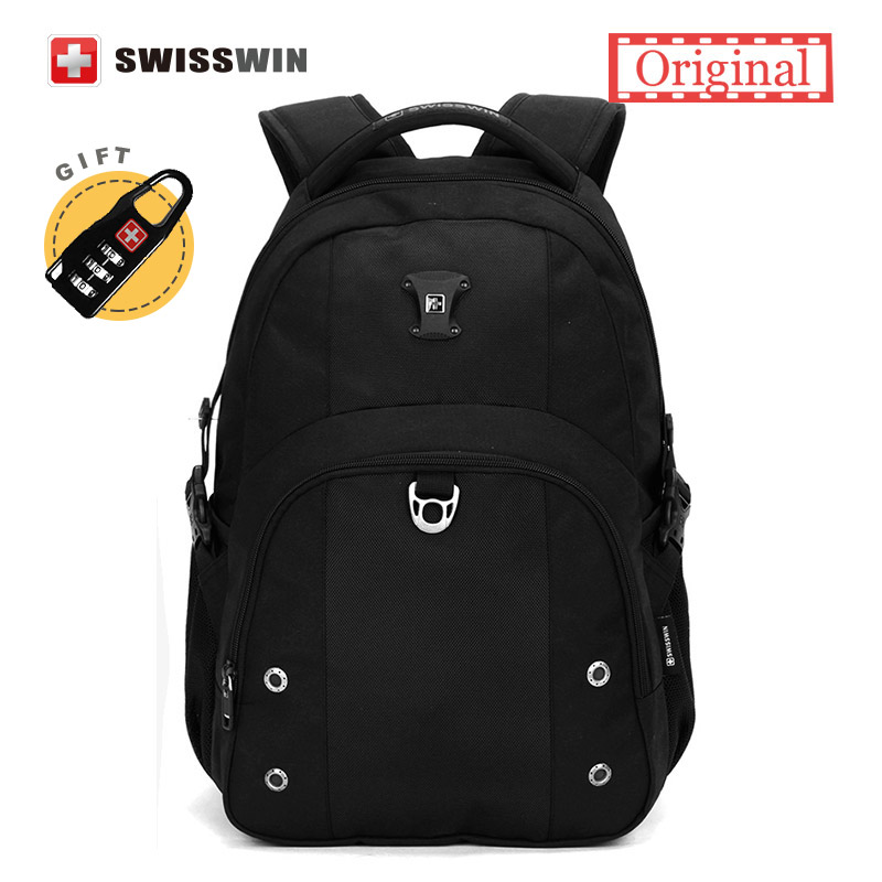 Swisswin 15 Computer bag backpack Mens Waterproof Laptop Backpack for Business and Students 30L Travel Backpack for Women<br>