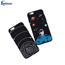 Xuanzhiluo For Iphone 7 Case Cute Cartoon Pattern Astronaut Case For Iphone 6 6s Plus 7 Plus Cases Scrub Plastic Hard Back Cover