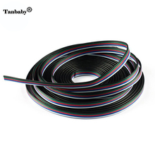 Tanbaby 5M RGBW 5pin connector wire 5 channel extend cable for 5050 RGBW led strip conector for strip RGBWW(China)