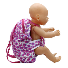 Baby Born Doll Outgoing Packets Outdoor Carrying Doll Backpack for Carrying 43cm Baby Born Zapf Doll and American Girl Doll 131(China)