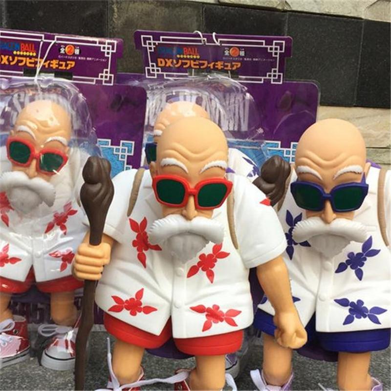 1pc/lot Anime Dragon Ball Muten-Roshi 2 Colors Blue/RedGokou Master Action Figure Boy Gift Kids Toys Brinquedos 25cm<br><br>Aliexpress