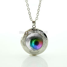 2017 Collier Maxi Necklace Eyeball Jewelry Evil Eye Locket Pendant Frost Dragon Leisure Series Essential Souvenirs Gift N 853