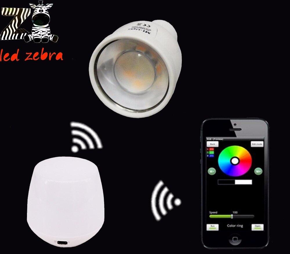 mi.light 2.4G 4w GU10 led bulb,rgbw rgbww led lamp AC85-265V+2.4G wireless wifi led controller for rgbw rgbww led bulb<br><br>Aliexpress