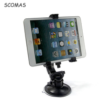 "SCOMAS Universal Tablet Car Holder 7-10"" Tablet Mounting Bracket Stand 360 Degree for IPad Iphone Samsung Tablet Pc Car Mount"
