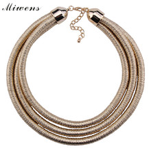 Miwens New Arrival Fashion Magazine necklace jewelry women party accessory Vintage multi-layer statement necklace Wholesale 7571