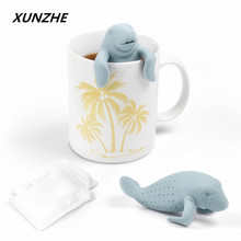 High-Quality Silicone dolphins Shape Tea Infuser Leaf Herb Spiece  Makers Bag Mug Filter The kitchen gadget Tea Leaf Strainer