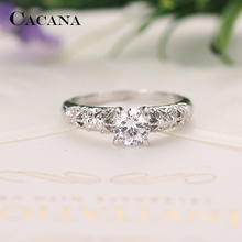 CACANA Cubic Zirconia Rings For Women  Decorative Pattern Trendy Zinc Alloy Rings Jewelry Bijouterie Wholesale NO.R513