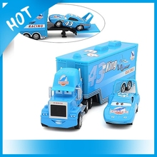 Pixar Cars Mack Truck Toys Blue Container DINOCO with Racing Small Car Alloy Christmas cars Diecast Alloy And Plastic for child