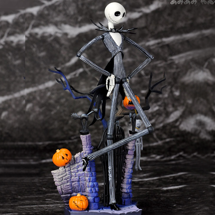 16CM SCI-FI Revoltech Series NO.005 Jack Skellington The Nightmare Before Christmas PVC Action Figure Model Toy for gift<br><br>Aliexpress