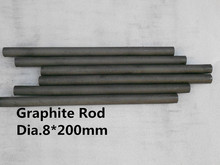 dia8mm*200mm THICK CARBON GRAPHITE ROD LONG MIXING STIRRING CARBON ROD, free shipping 6pcs(China)