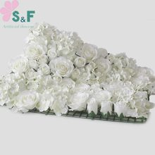 2PCS/Lot Free Shipping Artificial flower Wall Wedding Backdrop Arrangement Stage Decoration Floral 8Color Can Be Customized(China)