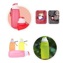 Portable Silicone Folding Water Bottle Outdoor Hiking Sports Kettle Collapsible Camping Travel Drink Water Bottle(China)