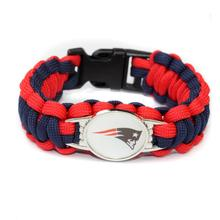 New England Patriots NFL Football Team Paracord Survival Bracelet Fans Friendship Outdoor Camping Sports Bracelets