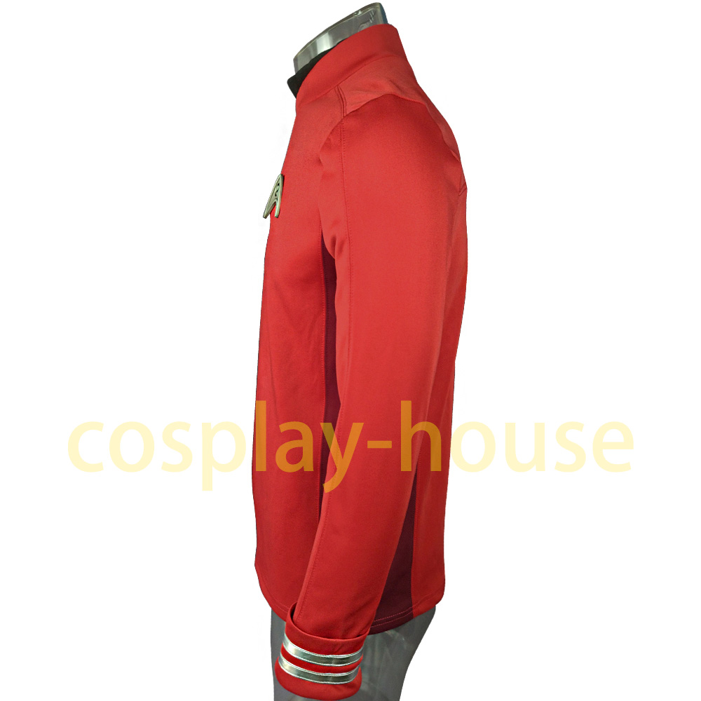 Cosplay Star Trek Costume Beyond Red Captain Kirk Uniform Spock Blue Uniform Scotty Red Halloween party Prop (3)