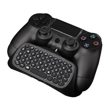 New USB 2.4Ghz Wireless Chatpad Message Keyboard Mini Chatpad Gamepad Accessory Keyboard for PlayStation 4 PS4 Controller
